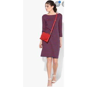 Gap Striped Ponte Knit Blue/Coral Dress Sz XXL